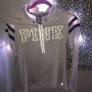 PINK Victoria's Secret Reflective White Quarterzip